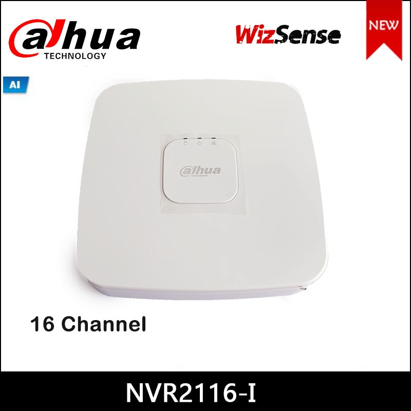 داهوا nvr NVR2116-I 16 قناة الذكية 1U WizSense شبكة مسجل فيديو جميع القنوات AI بواسطة كاميرا