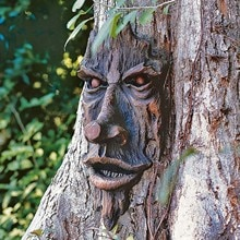 Old Man Tree Hugger Bark Ghost Face Facial Features Decoration Tree Face Decor For Outdoor Funny Yar
