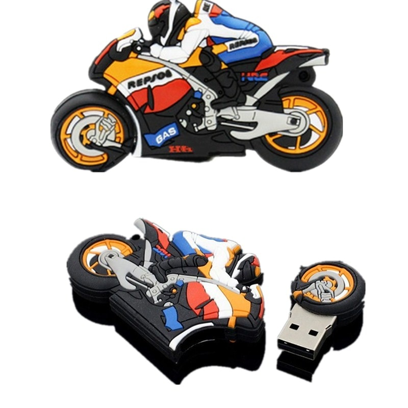 Creative Motorcycle Usb Flash Drive Waterproof Motorbike Pen Drive 128GB Memory Stick U Disk 256GB Pendrive 512GB Thumbdrives