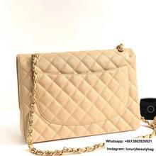 classic luxury designer XXXL large chain shoulder bag woman handbag import calfskin leather crossbod
