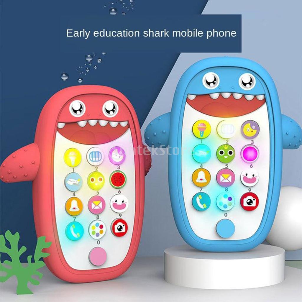 Интеллигентая (ый) Shark Музыка мобильный телефон игрушки для малышей развивающие игрушки