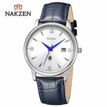 Origianl Nakzen Fashion Sport Analog Watch Men Quartz Watch High Quality Ultra-thin Stainless Steel Case Calender