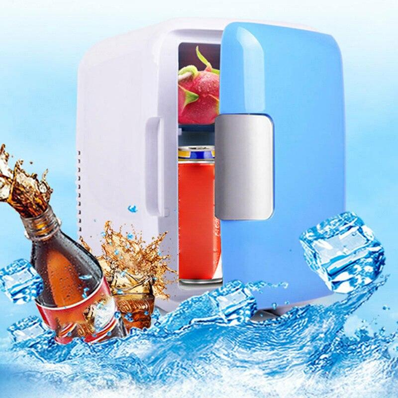 4L Портативный холодильник одной двери размораживания Отопление холодильники холодильник с морозильной камерой кулер теплее охлаждения ав...