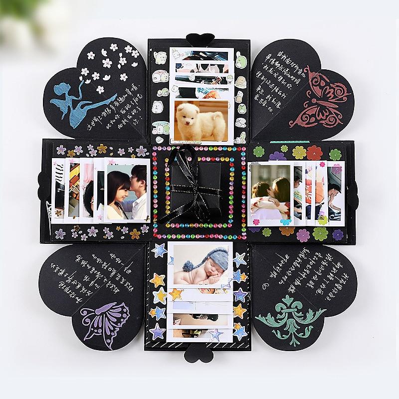 Nueva caja de papel sorpresa explosión Día de San Valentín boda aniversario cumpleaños embalaje bolsa de regalo DIY álbum de fotos blast box sache