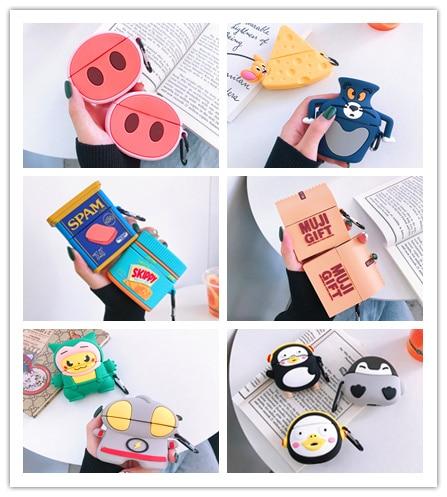 Funda de silicona con dibujos para Huawei freebuds 3, funda para huawei Freebuds3 Pro, divertida funda para auriculares
