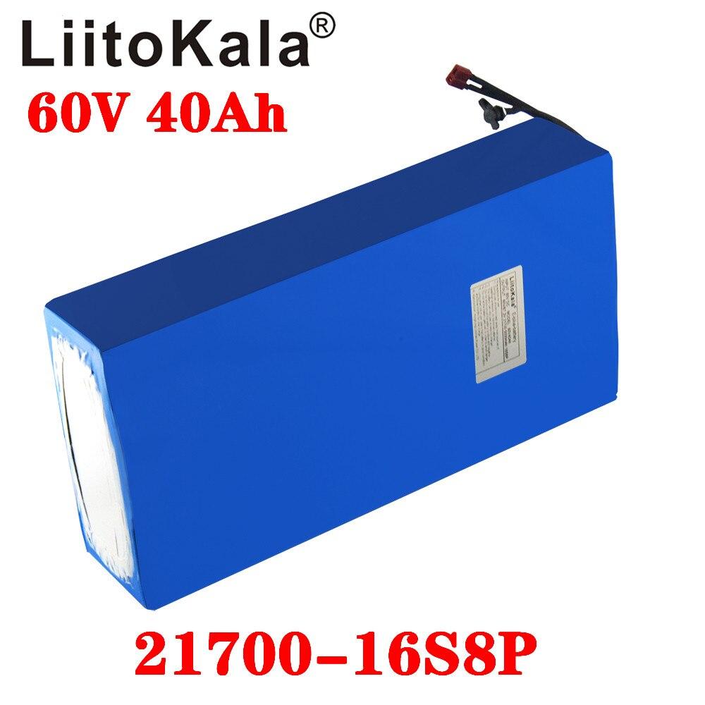 LiitoKala 60 فولت 40ah سكوتر كهربائي bateria 60 فولت 40AH دراجة كهربائية الليثيوم سكوتر كهربائي 60 فولت 1000 واط بطارية ebike