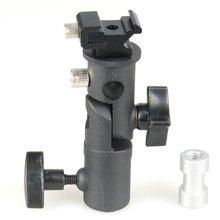 E Type support de Flash en métal chaussure chaude universelle Speedlite porte-parapluie avec 1/4