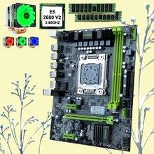 HUANANZHI remise carte mère ensemble X79-6M carte mère avec CPU Intel Xeon E5 2680 V2 avec 6 tubes refroidisseur RAM 32G (2*16G) RECC