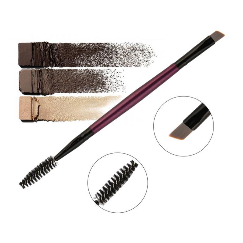 Double Head Eyelash Eyebrow Brush Angled Comb Professional Makeup Beauty Cosmetics Tools Maquiagem
