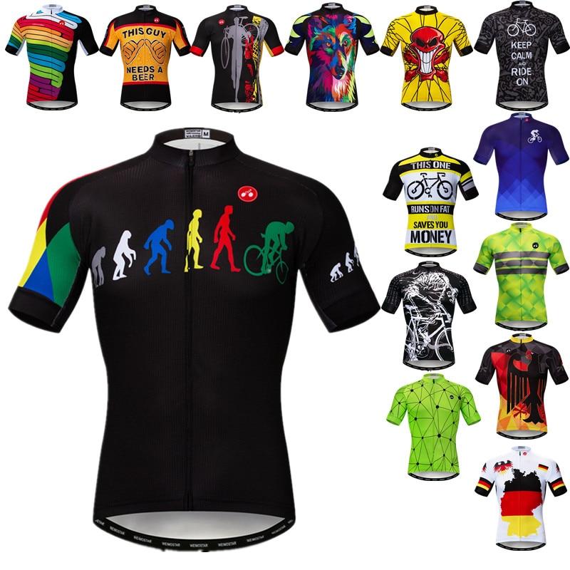 Weimostar profesional equipo ciclismo Jersey 2021 hombres verano bicicleta Jersey carreras deporte...