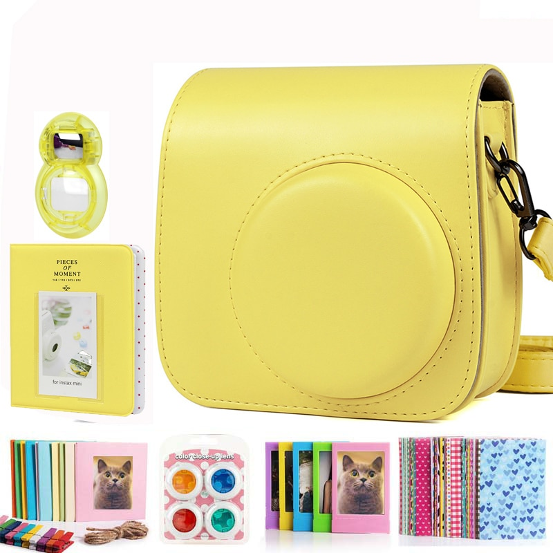 Fujifilm Instax Mini 9 8+ 8 Camera Accessories Bundle Set Shoulder Bag Case/Photo Album/Film Frame/Filters/Selfie Lens Kit