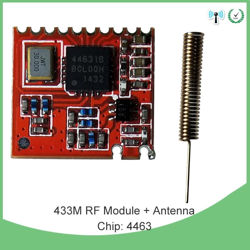 200 قطعة 433 ميجا هرتز IOT RF وحدة 4463 رقاقة لمسافات طويلة الاتصالات جهاز إرسال واستقبال SPI و 2 قطعة 433 ميجا هرتز هوائي
