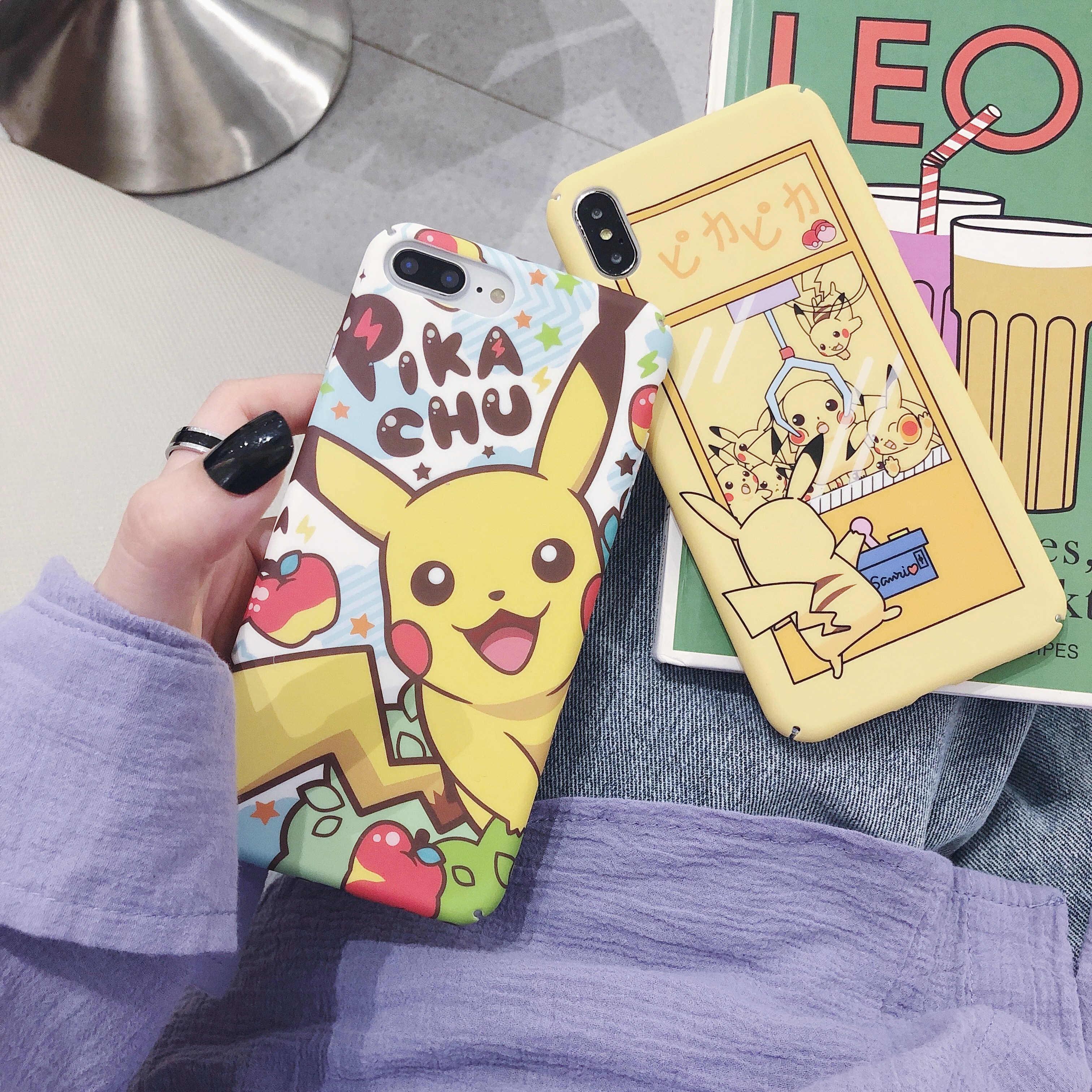 Чехол Pokemons picachu для iphone 6 7 8Plus X XS MAX XR 11 11pro