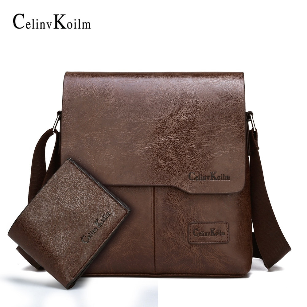 aliexpress.com - Celinv Koilm Famous Brand Leather Crossbody Shoulder Bag For Man Business Tote Bags Hot Sale Fashion  Brand Men Messenger Bags