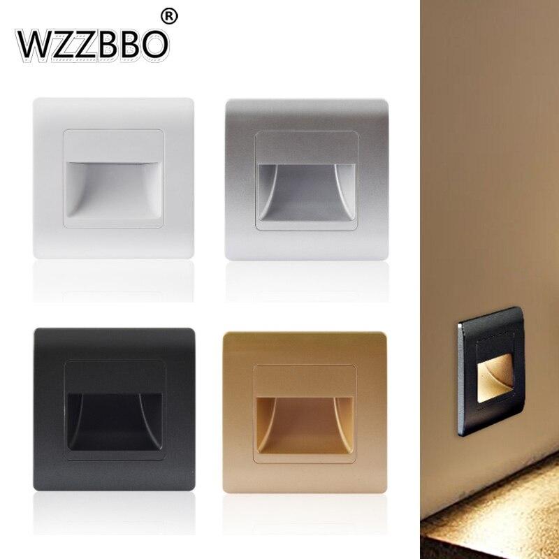 Встраиваемая светодиодная настенная лампа, светильник с пассивным инфракрасным датчиком движения для крышки лестницы, коридора, светильни...