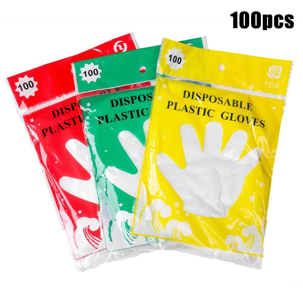 100x Disposable Gloves 24.5x13.5cm Pieces Of Food Grade Transparent Disposable Gloves Made Of High-quality Materials cat wet food felix appetizing pieces of pauch for cats pieces in jelly lamb 24 85 g