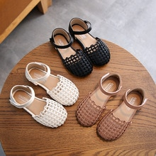 New kids Children's Sandals 2020 Summer Korean Roman Sandals Girls Back Zipper Fashion Trend Girls P