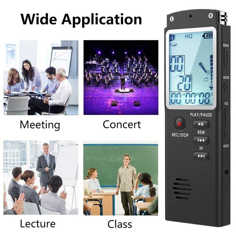32GB grabadora de voz USB dictáfono Digital o grabadora de voz con WAV, reproductor MP3