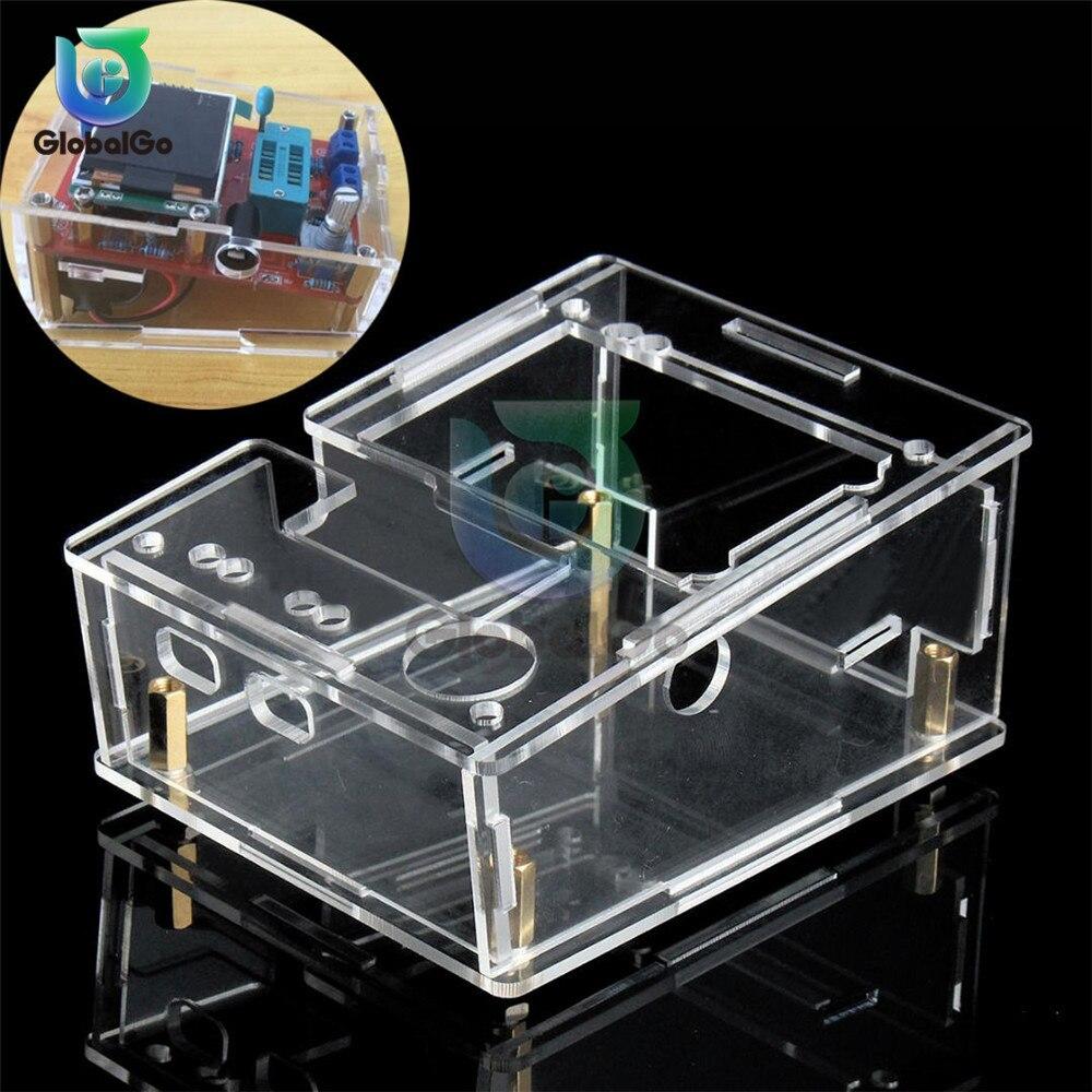 Acrílico transparente caso escudo para tft gm328 transistor tester diodo lcr medidor pwm onda quadrada kit diy