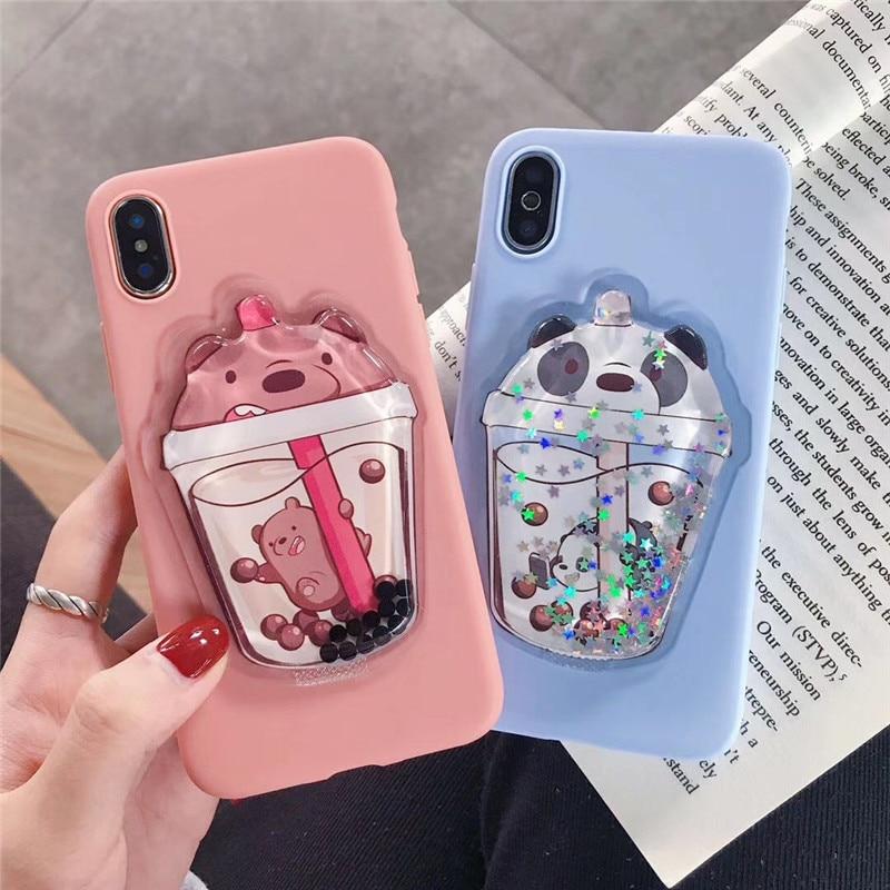 Glitter quicksand 3D Cartoon phone case For xiaomi mi 9 se mi 8 6x note 5 A Case cover Redmi 7A 6A 5A 4X 4A note 7 Note 6 case