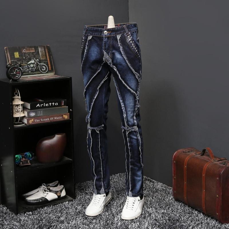 Мужские осенние джинсы, оригинальные женские длинные брюки, модные брендовые дизайнерские джинсы, мужские джинсы