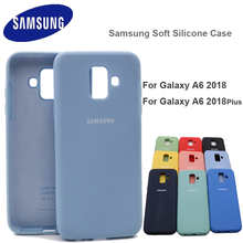 For Samsung Galaxy A6 2018+ Case High Quality Soft Silicone Cover Samsung Galaxy A6 A6 Plus Protector Shell With Logo&Buttons