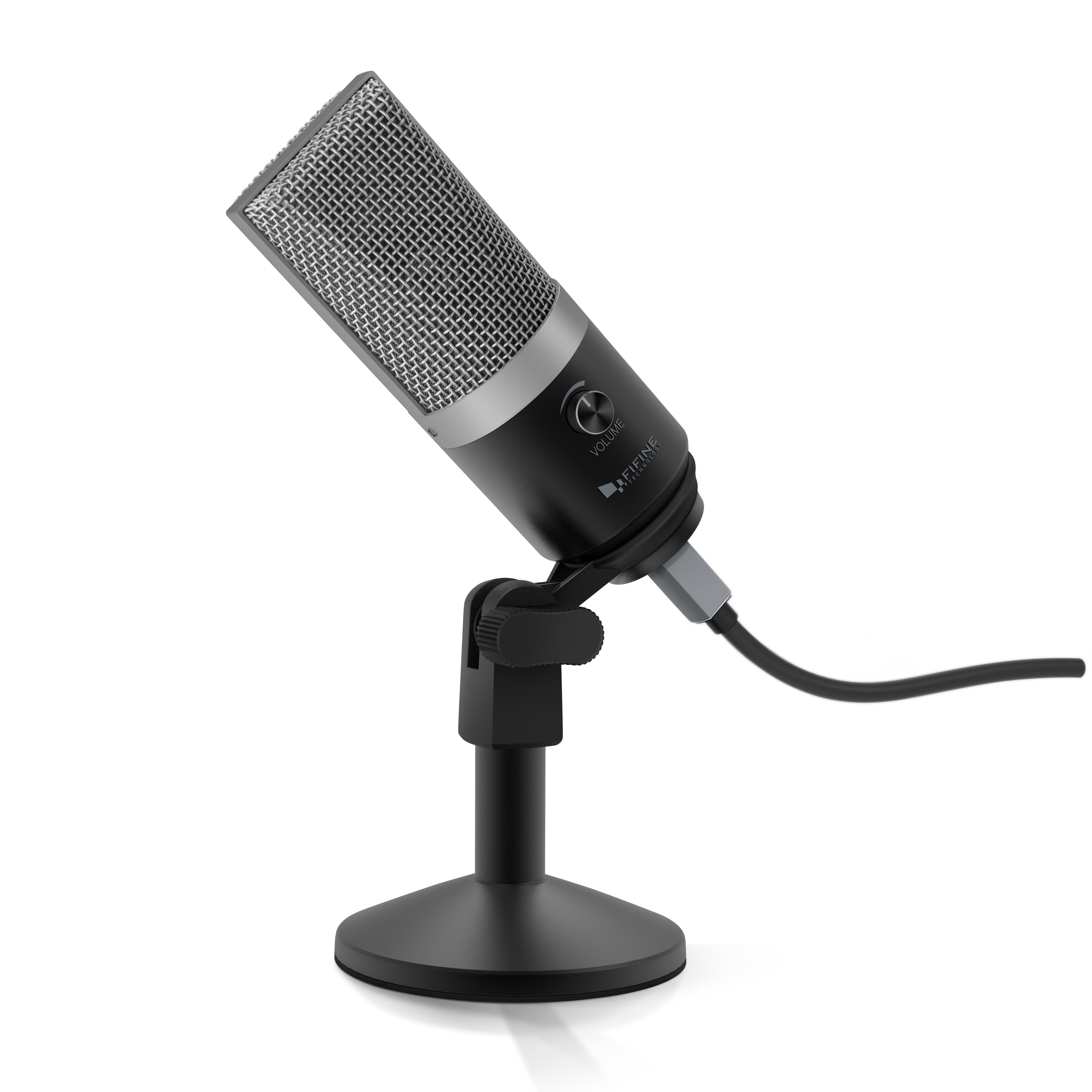 FIFINE USB ميكروفون للنوافذ الكمبيوتر و ماك المهنية تسجيل المكثف MIC ل يوتيوب سكايب اجتماع لعبة K670