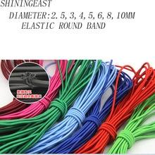2.5-10mm 10 m/lot 2.5-8mm bricolage accessoires faits à la main bande élastique ronde corde extensible cordon élastique cordes bricolage accessoires de cheveux 869