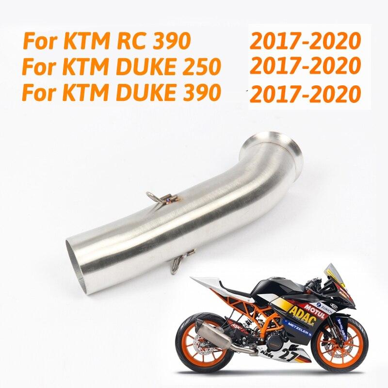 Silencioso da Exaustão da motocicleta Silenciador Tubo de Ligação Do Meio Para KTM DUKE 390 Duke 250 RC 390 RC RC390 2017 2018 17 slip-on Da Marca Nova