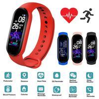 Новейшая модель; M5 умные часы IP67 Водонепроницаемый смарт-браслет на запястье сердечного ритма крови Давление монитор трекер Шагомер для за...