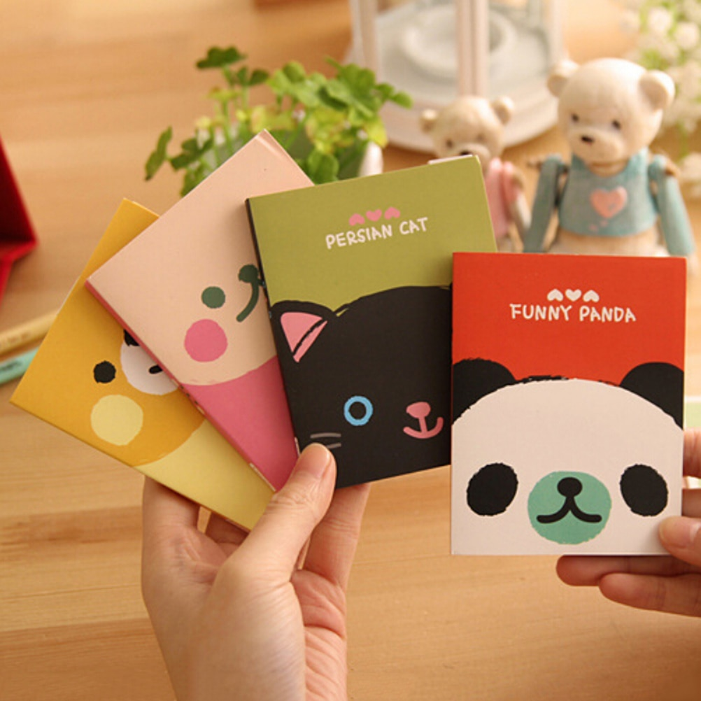 Kawaii Creative Stationery Forest Animal Series Cute Paper Memo Pad Sticker Post Sticky Notes Notepad School Office Supplies cute lucky cat animal mini planner sticker notepad sticky notes school supplies material sticky memo agenda notes for student