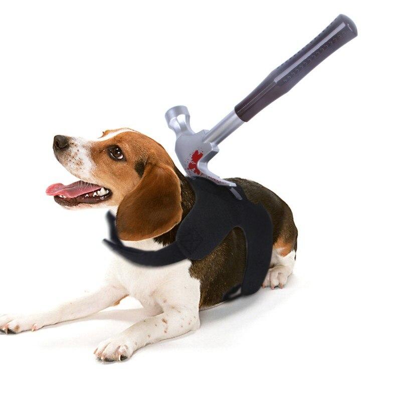 Novidade halloween trajes para cães roupas para animais de estimação com garrafa de vinho, pinças para tubos, chave, martelo, baioneta, faca roupas de gato para cães
