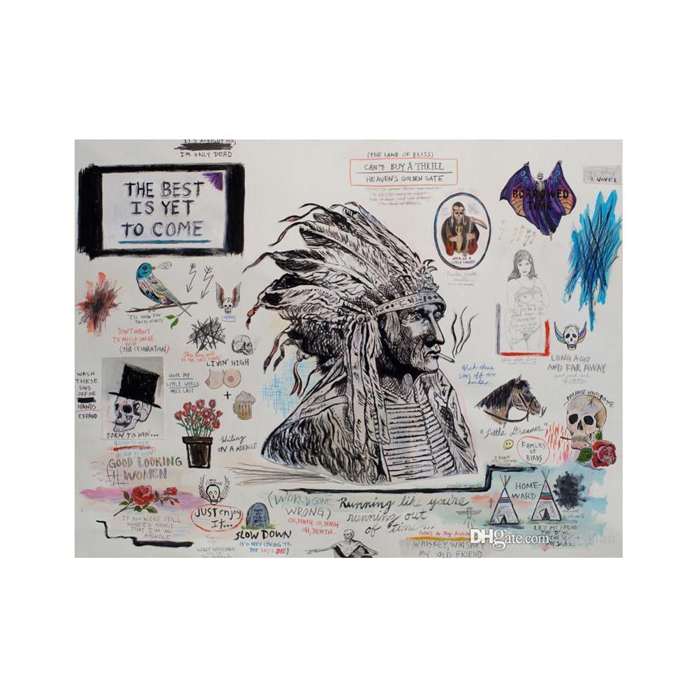 Póster de New Flying Death Wes Lang, lo mejor aún por venir, arte impreso, papel fotográfico, arte de pared, pintura de 12 24 36 47 pulgadas