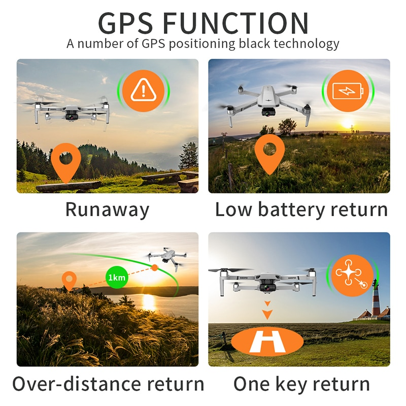LAUMOX KF102 GPS Drone 4K HD Camera with 2-Axis Anti-Shake Gimbal Profesional Quadcopter Brushless WiFi FPV Dron VS SG907 MAX 6
