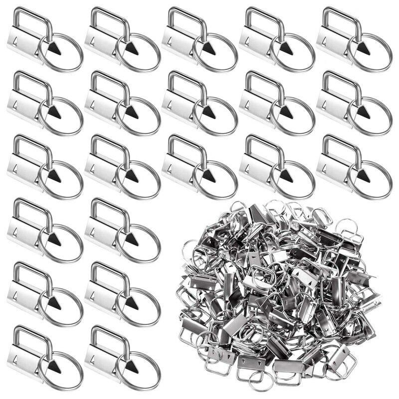 200 قطع الأجهزة مفتاح سلسلة مفتاح سلسلة مفتاح سلسلة سوار مع مفتاح سلسلة مفاتيح حلقية لوازم الأجهزة الذيل كليب