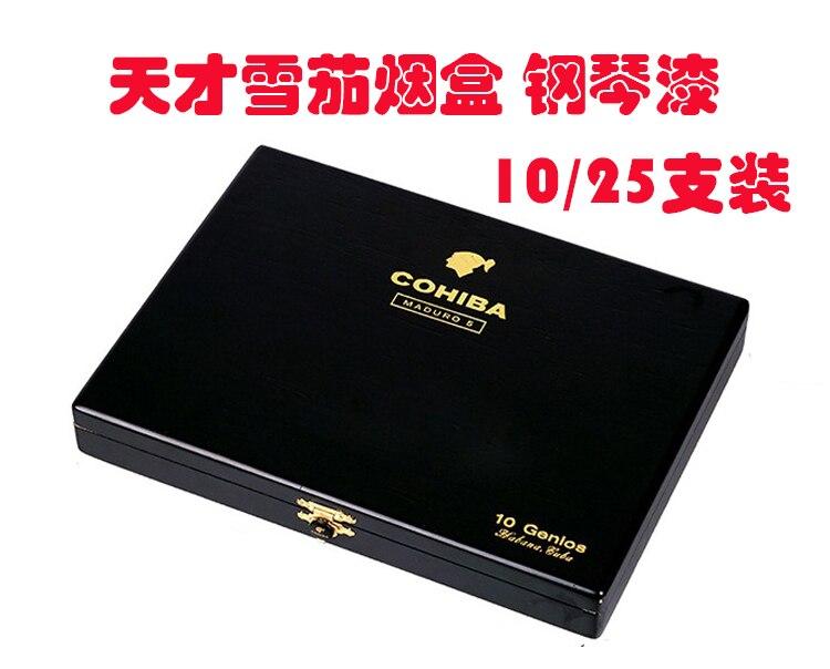 Cigar Box Piano Lacquer Moisturizing and Chunhua 10 PCs/25 PCs Cigarette Case