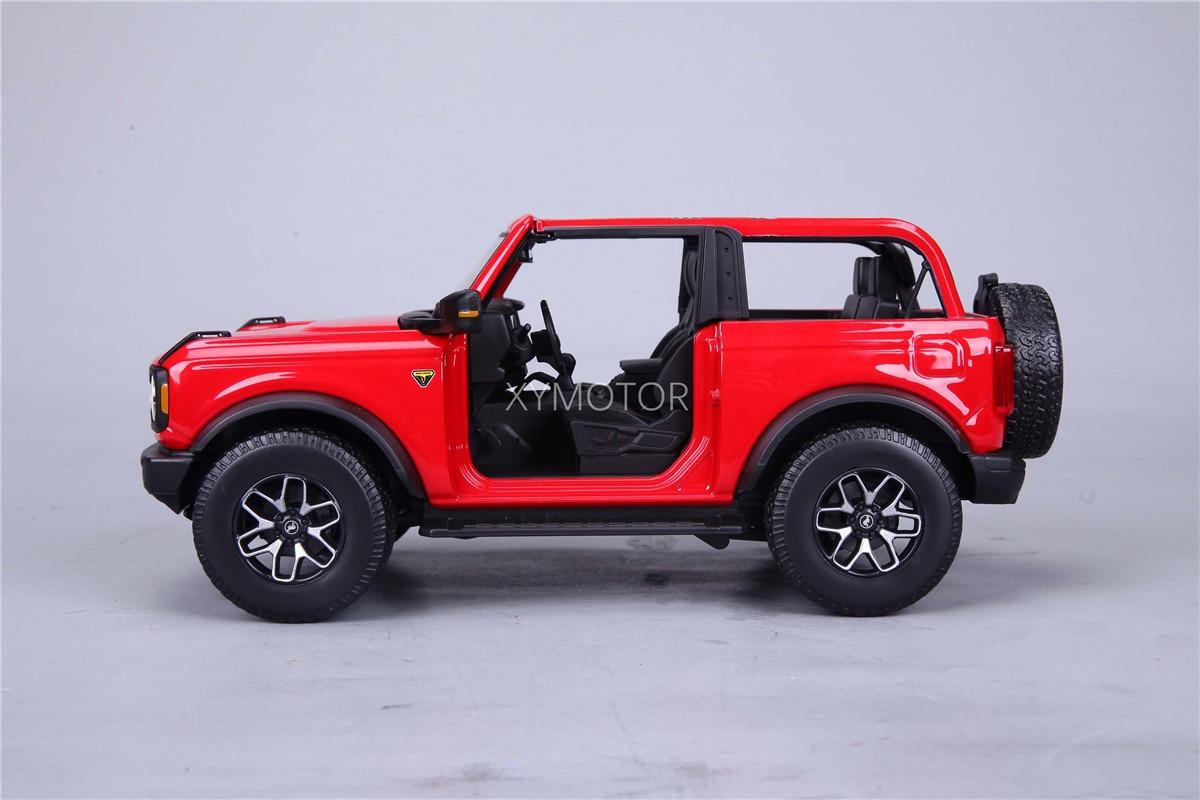 New Maisto 1:18 For Ford Bronco Badlands No door 2021 Diecast Model Car Orange/Blue/Red Kids Girls for Display Collection Metal