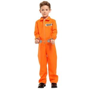 Prisoner Costume Full Set Boy Kids Cosplay Children Costume Halloween Birthday Masquerade Party Cosplay Costumes