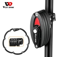 west biking foldable bicycle lock mtb road bike chain lock safety anti theft cycling accessories scooter electric e bike lock