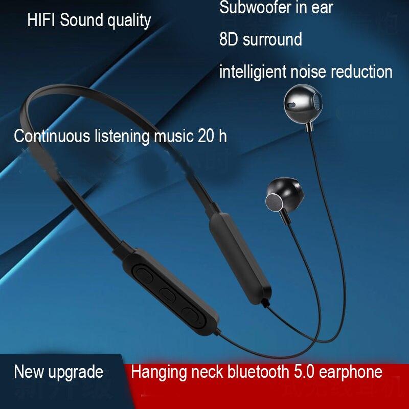 Auriculares Bluetooth con cuello colgante, auriculares, banda para el cuello, para correr, deporte, blutooth 5,0, micrófono, auriculares estéreo magnéticos inalámbricos