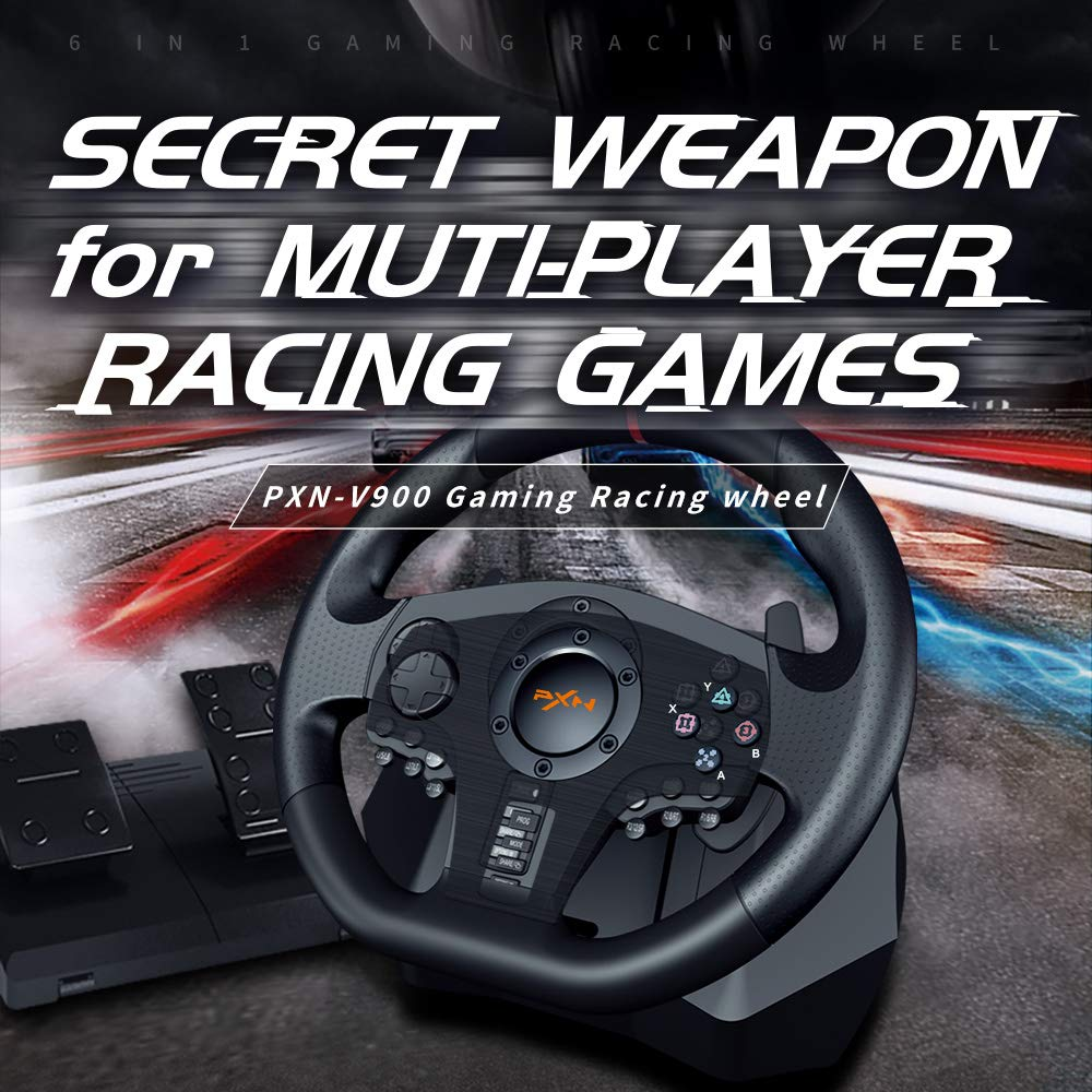 pxn-v900-pc-gaming-racing-steering-wheel-universal-usb-car-sim-270-900-degree-with-pedals-for-ps3-ps4-xbox-series-sx-switch
