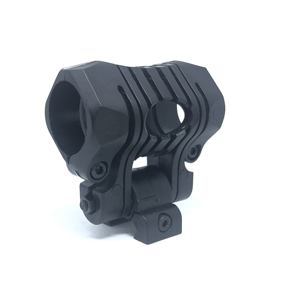 TOtrait Tactical Light Mount 1inch/25mm 5 Position For Airsoft Flashlight Laser Picatinny 20mm Rail Mount clip Element black