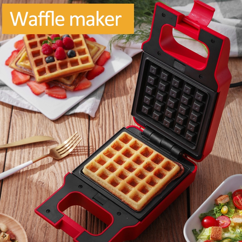600W WaffleMaker eléctrica Sandwichera Donuts tostadora hornear huevo pastel de desayuno máquina takoyaki panqueque Sandwichera 220V