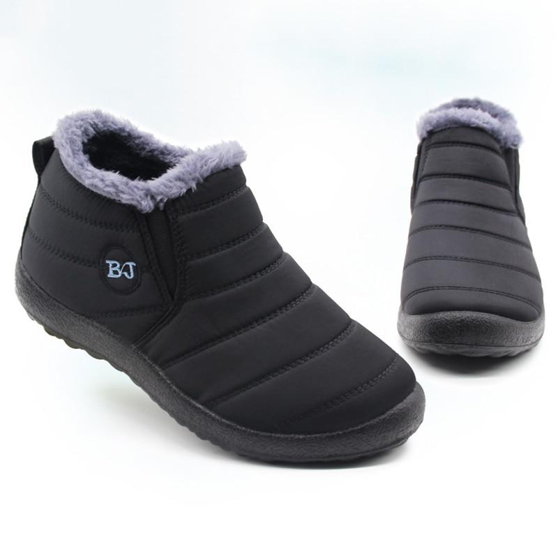 Men Boots Lightweight Winter Shoes For Men Snow Boots Waterproof Winter Footwear Plus Size 47 Slip O