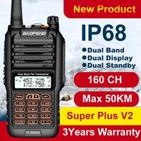 160CH Baofeng Long Range Walkie Talkie UV 9R Plus 50km IP68 Waterproof walkie talkie 2 way radio Baofeng uv9r plus Ham CB Radio