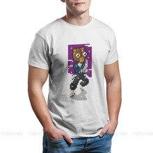 Kuma urso yuna fina noire anime homem tshirt pixel distintivo t camisa harajuku camisolas nova tendência
