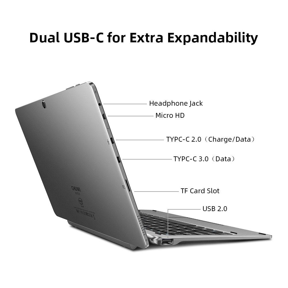 CHUWI Hi10 X 10.1 Inch FHD Screen Intel Celeron Quad Core 6GB RAM 128GB ROM Windows Tablets Dual Band 2.4G/5G Wifi
