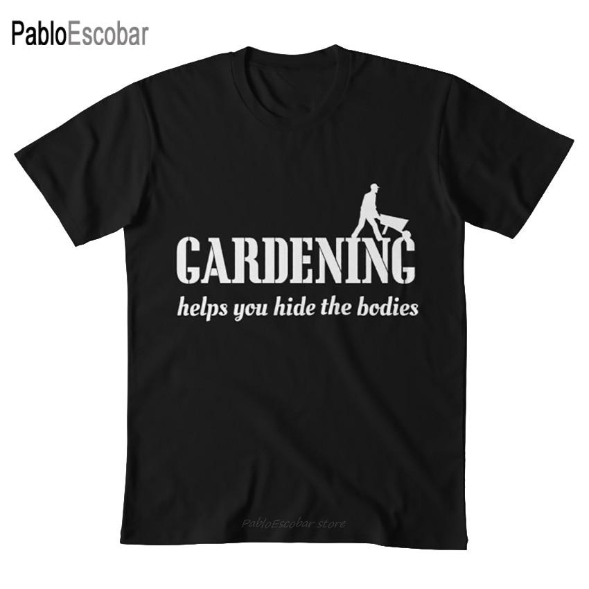 Gardening helps you hide the bodies T shirt gardener gardening garden nature outdoors dirt soil funny humor