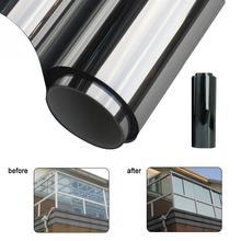 Wasserdicht Fenster Film Ein Weg Spiegel Silber Isolierung Aufkleber UV Ablehnung Privatsphäre Windom Farbton Filme Hause Dekoration 200*50CM