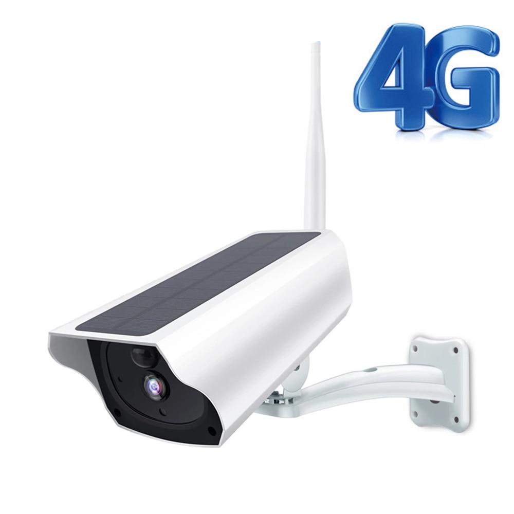 HONTUSEC Solar Camera 1080P WiFi IP Camera 4G LTE SIM Card Wireless Battery Camera Outdoor PIR Human Alarm Solar Power 4G Camera